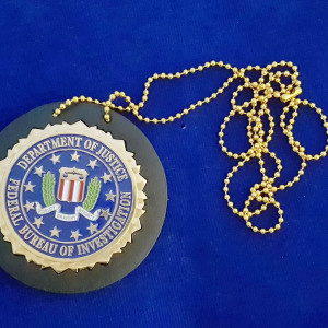 F.B.I. Seal mit Badgeholder Polizeimarke