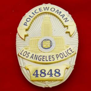 L.A.P.D. Policewoman Polizeimarke