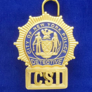N.Y.P.D. CSI Polizeimarke