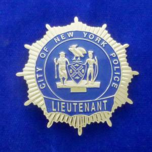 N.Y.P.D. Lieutenant Polizeimarke
