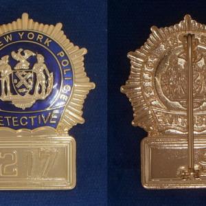 N.Y.P.D. Detective flat Polizeimarke