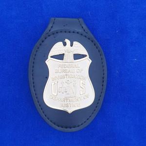 Polizeimarken mit Lederhalter