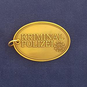 Kripo Metall Schlüsselanhänger Kripomarke