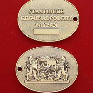Kripo staatl. Kriminalpolizei Bayern Dienstmarke