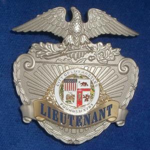 L.A.P.D. Mützenabzeichen Polizeimarke