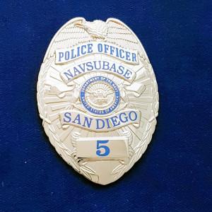 San Diego Navsubase (silber) Polizeimarke